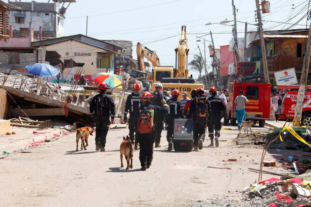 ERICAM.Intervención en el terremoto de Ecuador